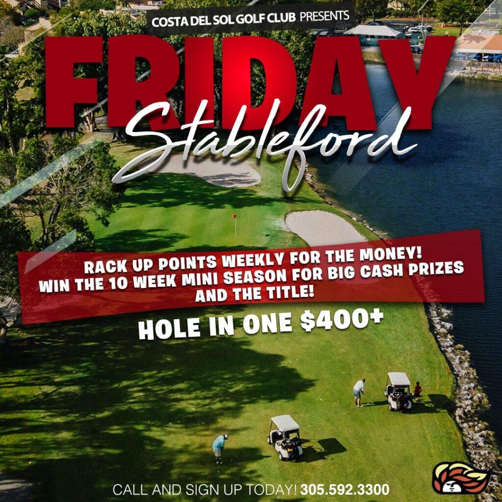 Friday Stableford